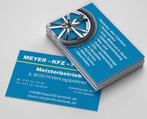 Portfolio Visitenkarten Layout Franken Medien