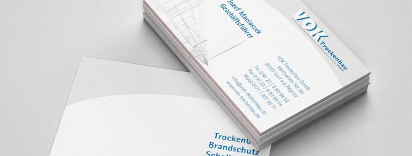 Visitenkarte Trockenbauunternehmen